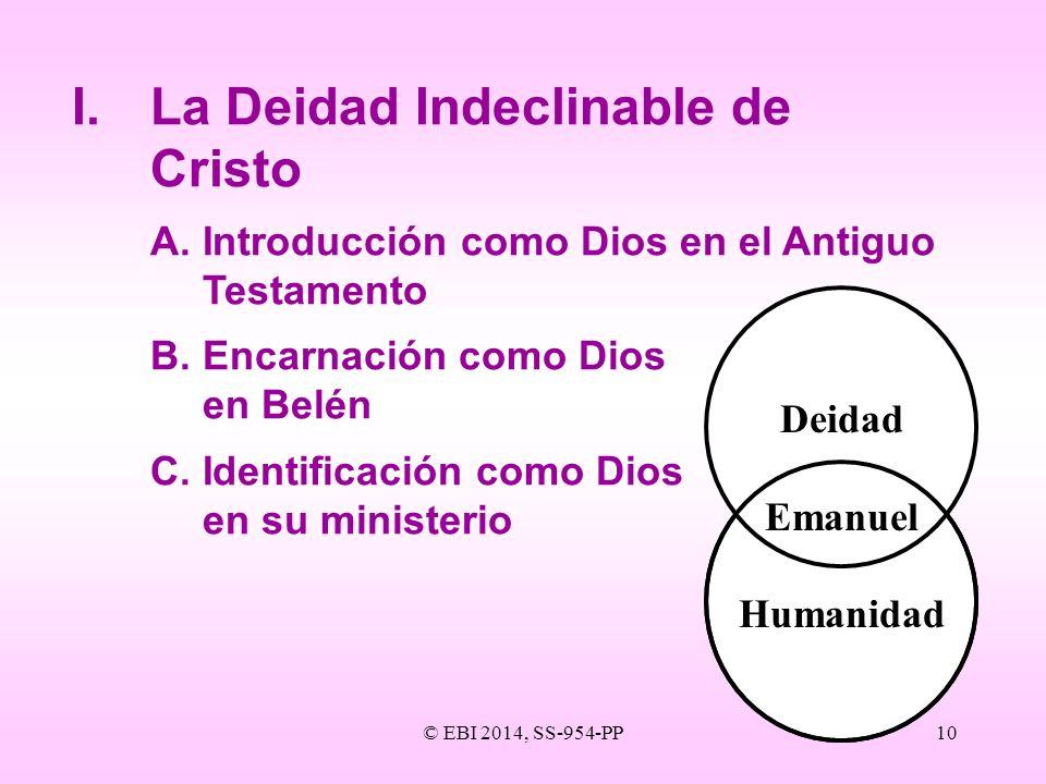 I. La Deidad Indeclinable de Cristo