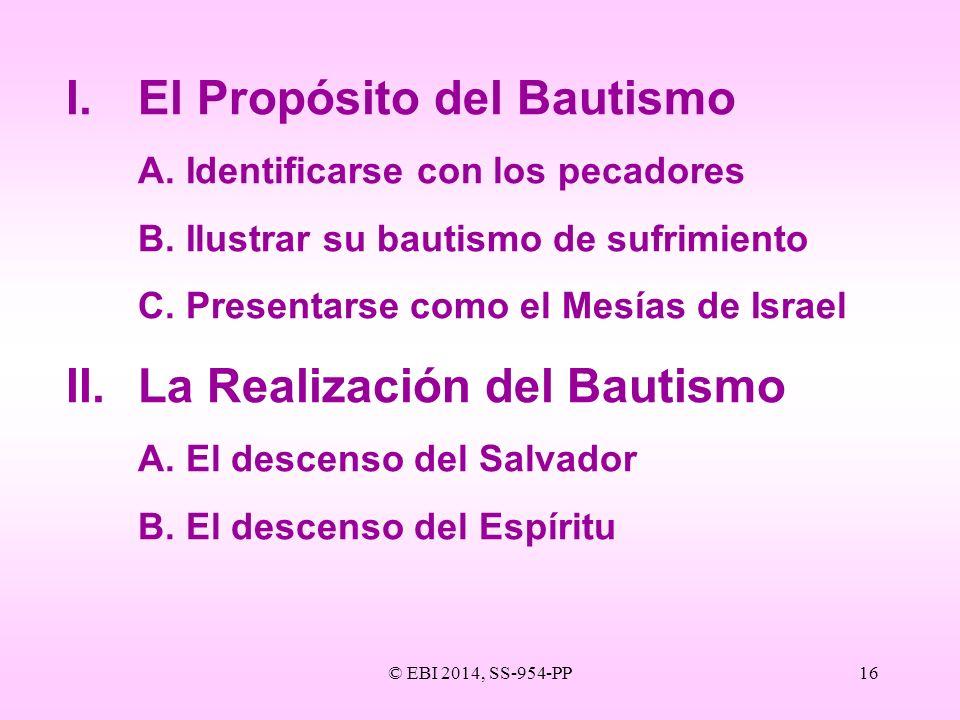 I. El Propósito del Bautismo