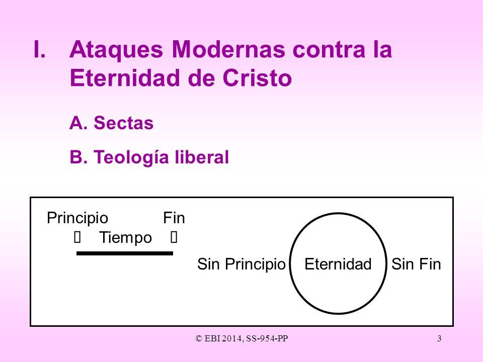 I. Ataques Modernas contra la Eternidad de Cristo