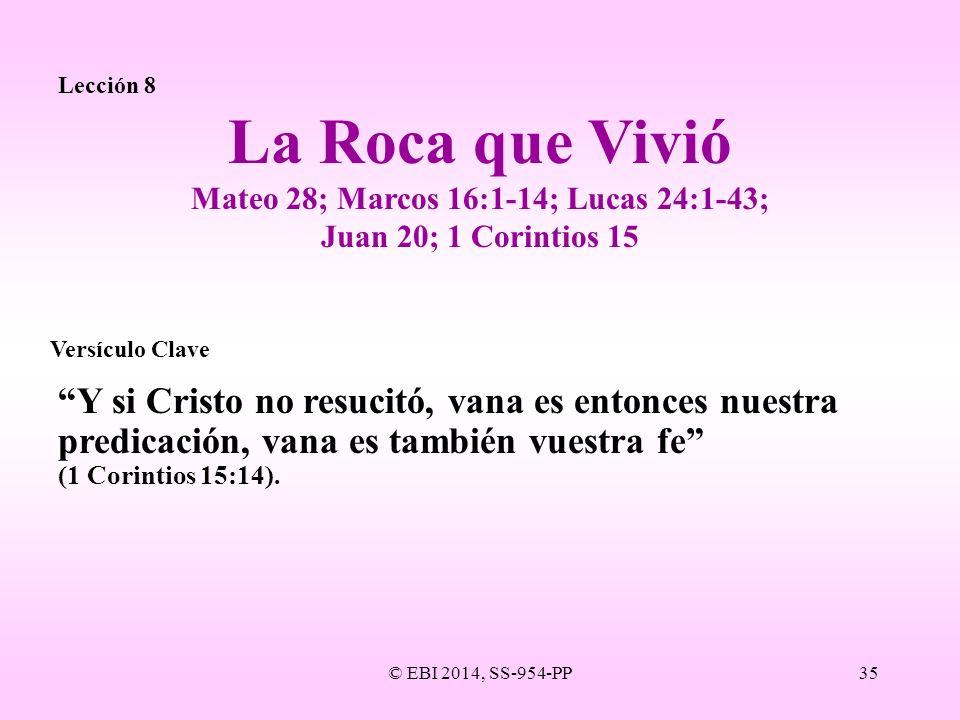 Mateo 28; Marcos 16:1-14; Lucas 24:1-43; Juan 20; 1 Corintios 15