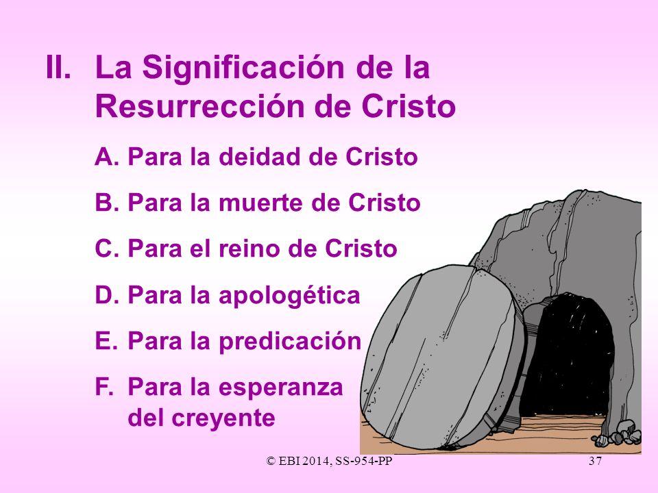 II. La Significación de la Resurrección de Cristo