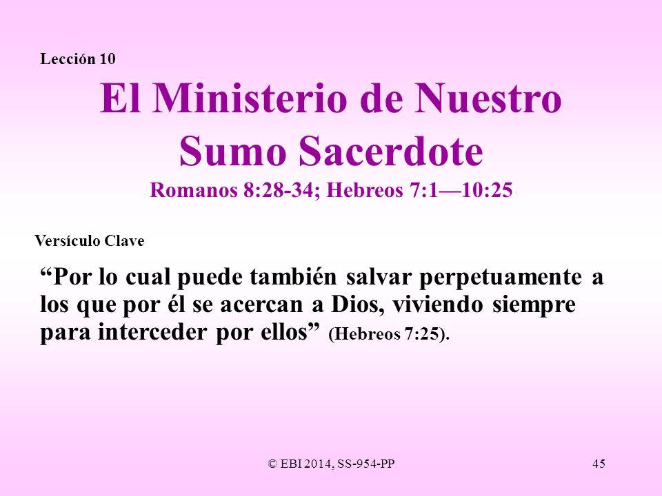 El Ministerio de Nuestro Sumo Sacerdote