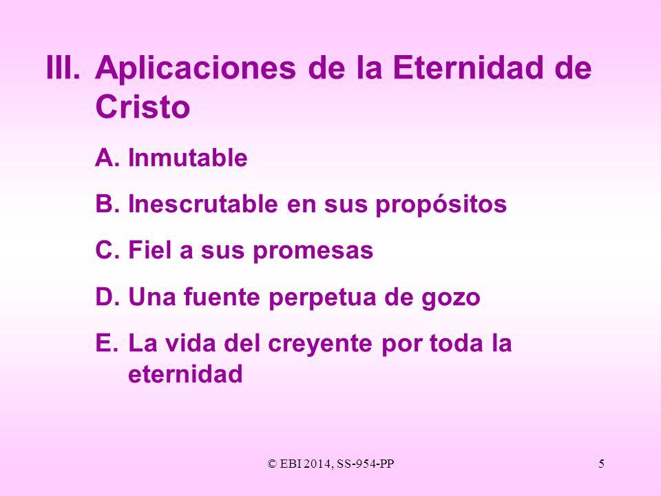 III. Aplicaciones de la Eternidad de Cristo