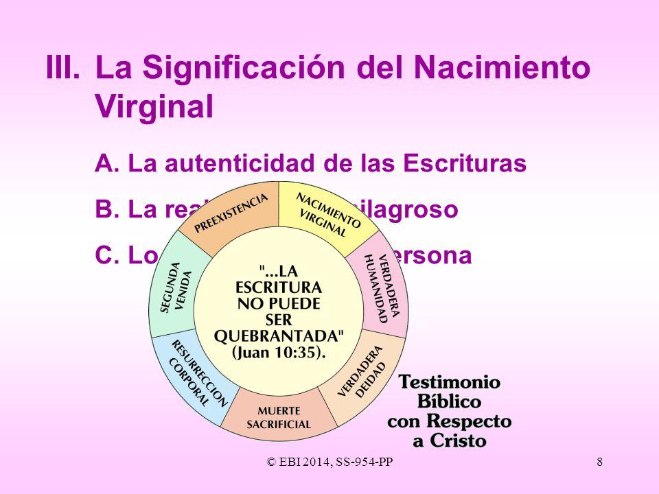 III. La Significación del Nacimiento Virginal
