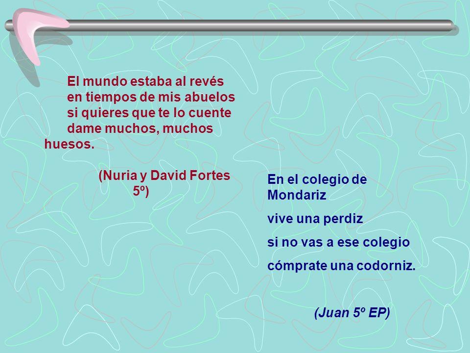 (Nuria y David Fortes 5º)