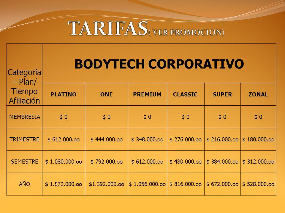 TARIFAS( VER PROMOCION)