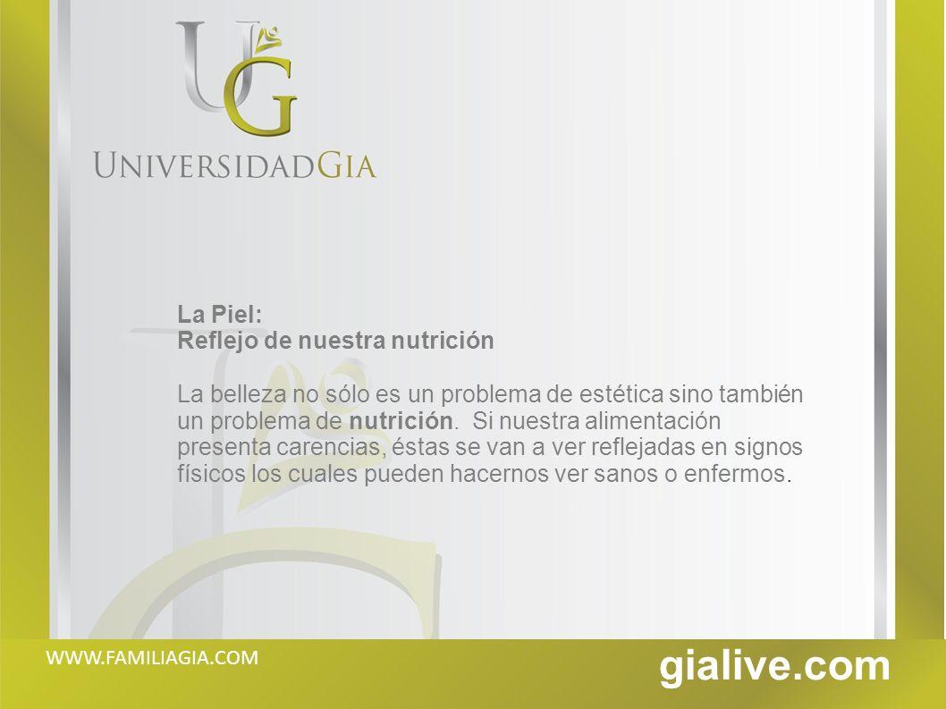 gialive.com La Piel: Reflejo de nuestra nutrición