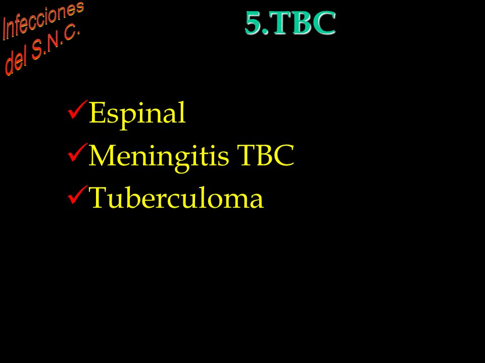 5. Tuberculosis e infecciones por hongos