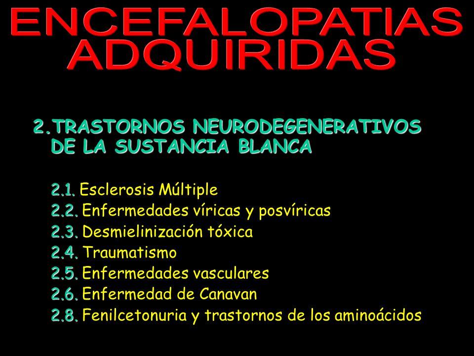 ENCEFALOPATIAS ADQUIRIDAS.