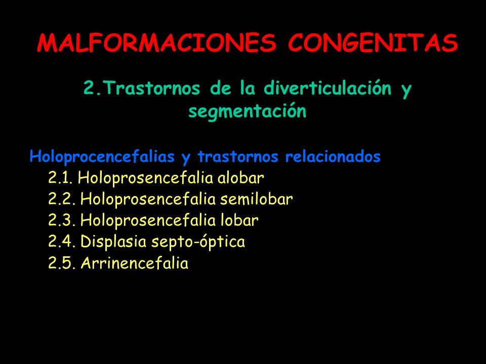 MALFORMACIONES CONGENITAS 2