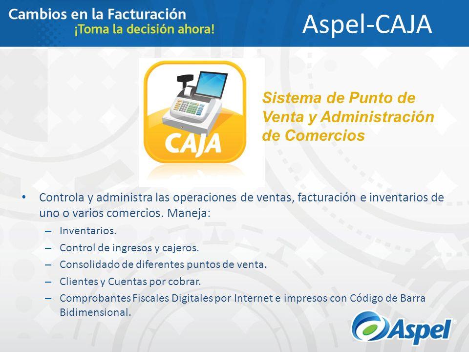 Aspel-CAJA Sistema de Punto de Venta y Administración de Comercios