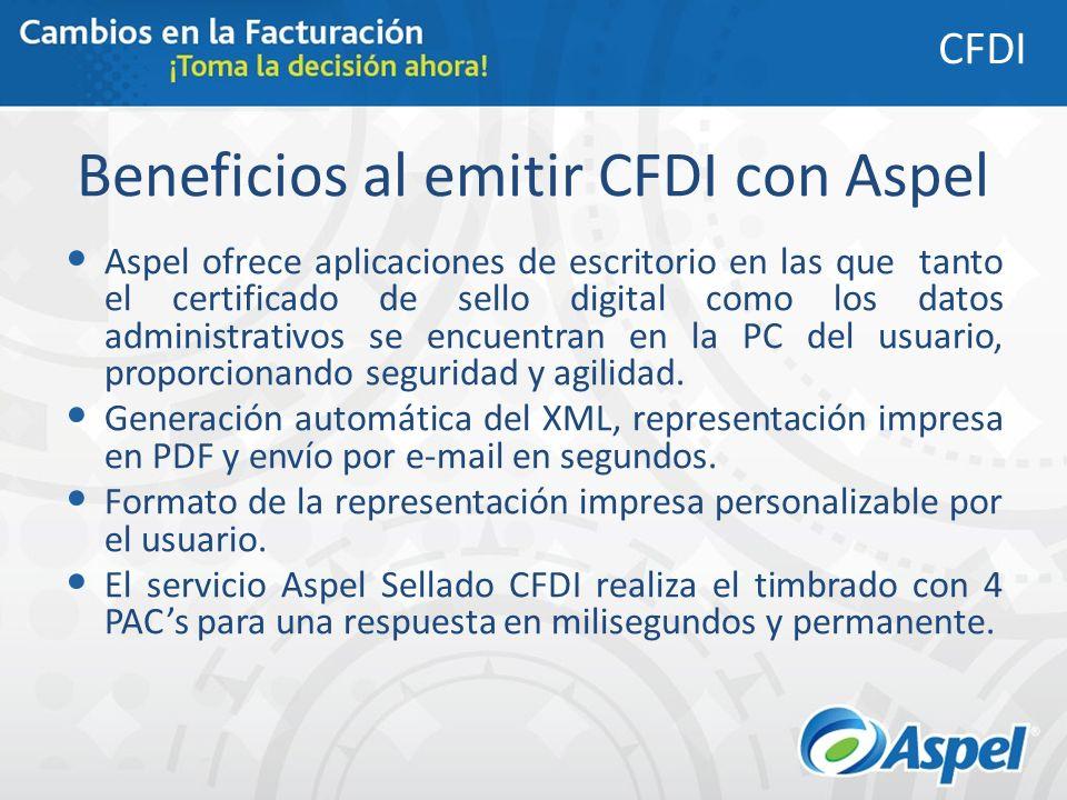Beneficios al emitir CFDI con Aspel