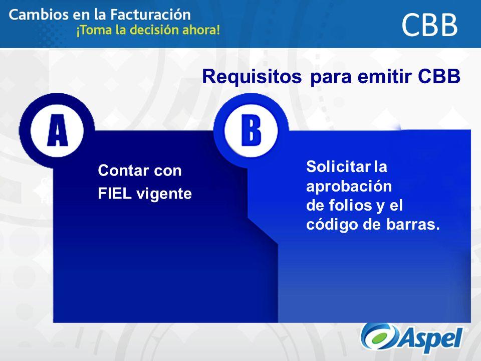Requisitos para emitir CBB