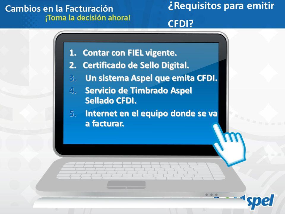 ¿Requisitos para emitir CFDI
