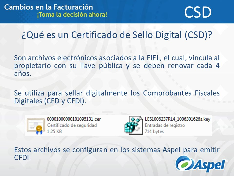 ¿Qué es un Certificado de Sello Digital (CSD)