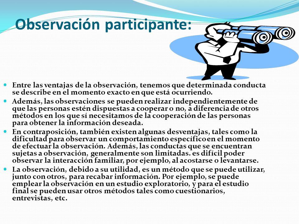 Observación participante:
