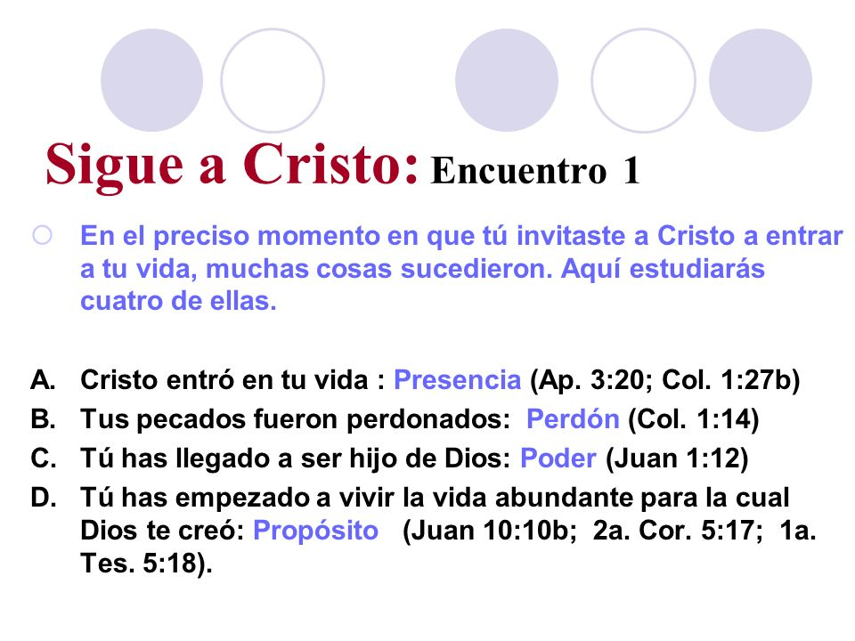 Sigue a Cristo: Encuentro 1