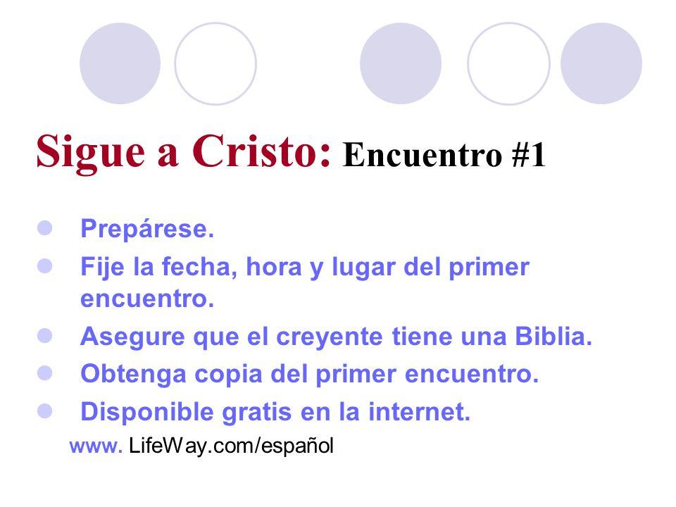 Sigue a Cristo: Encuentro #1