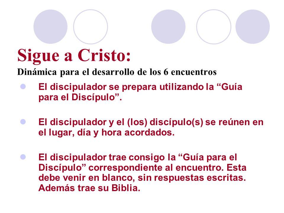 Sigue a Cristo: Dinámica para el desarrollo de los 6 encuentros