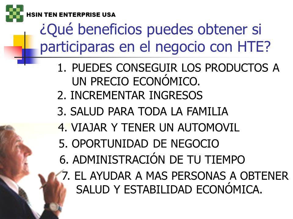 ¿Qué beneficios puedes obtener si participaras en el negocio con HTE