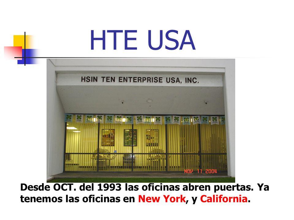 HTE USADesde OCT.del 1993 las oficinas abren puertas.
