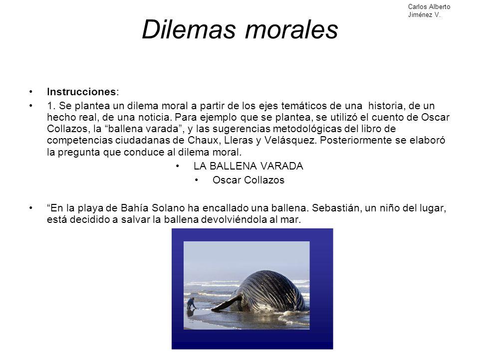 Dilemas morales Instrucciones: