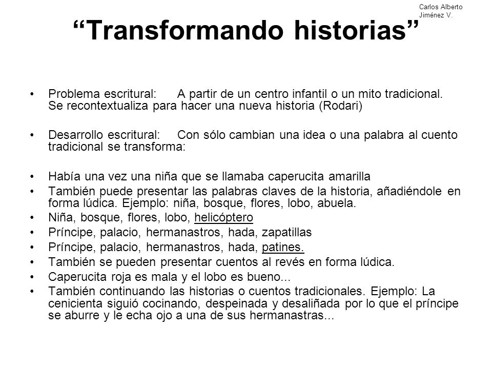 Transformando historias