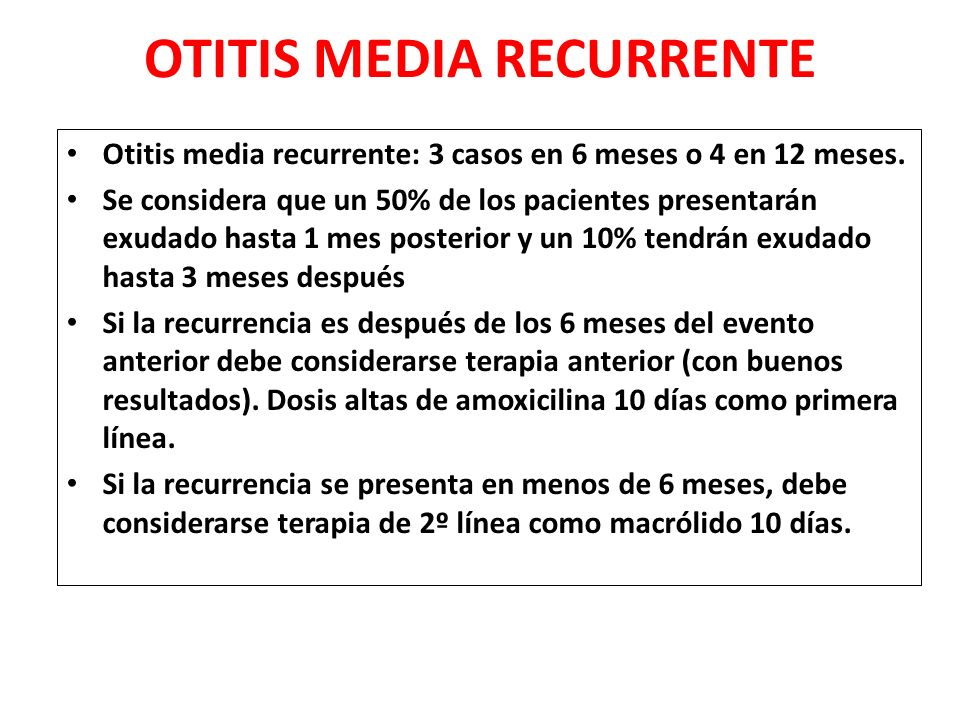 OTITIS MEDIA RECURRENTE