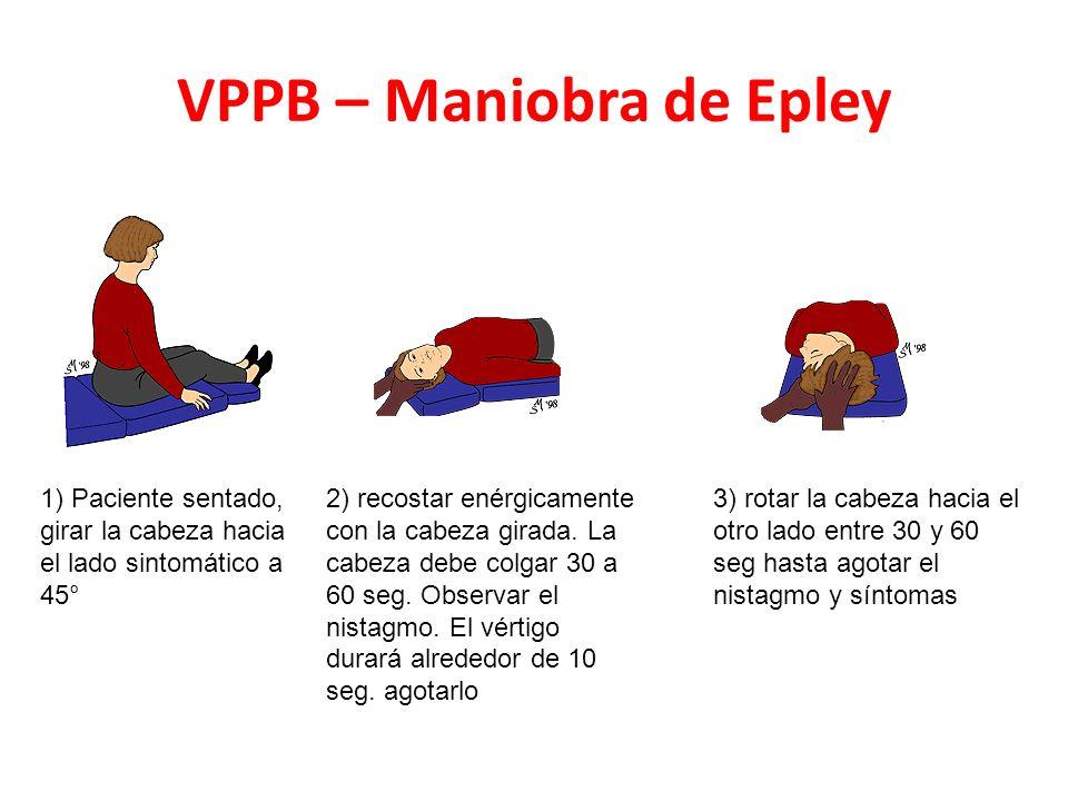 VPPB – Maniobra de Epley