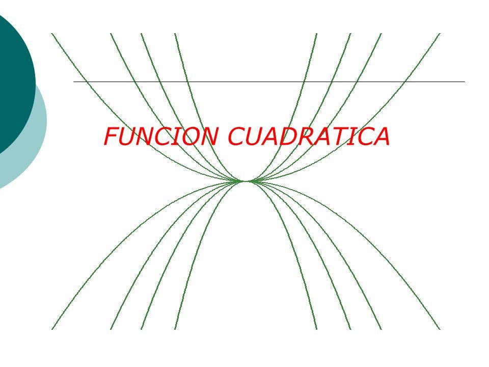 FUNCION CUADRATICA