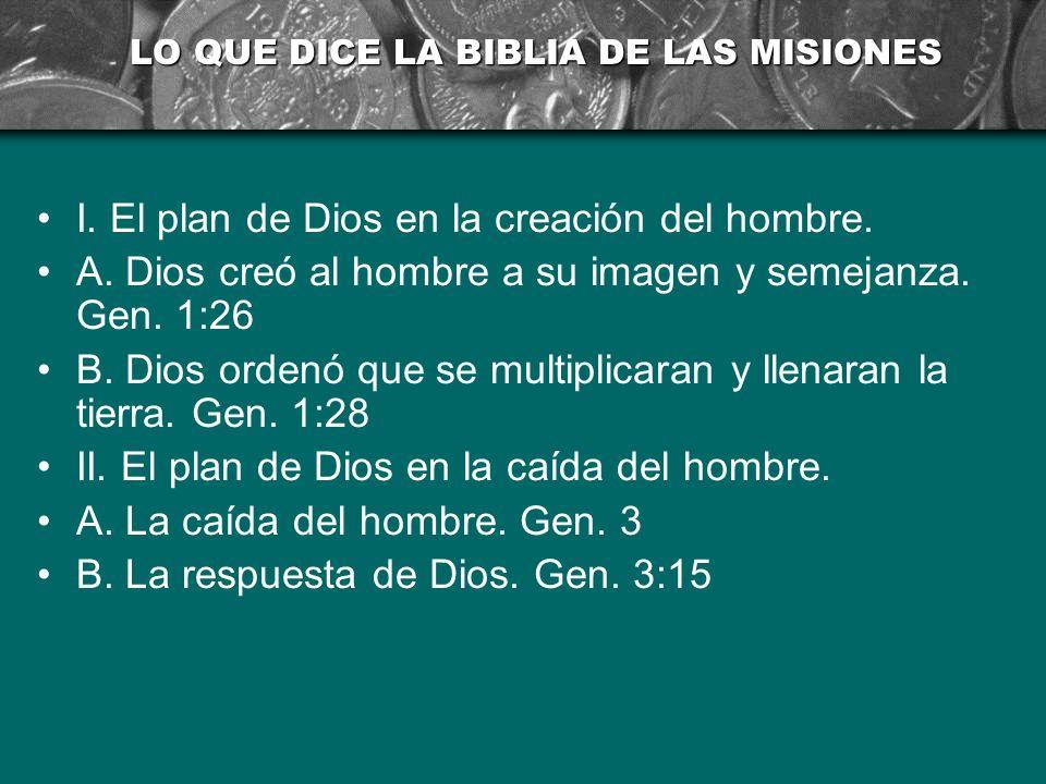 LO QUE DICE LA BIBLIA DE LAS MISIONES