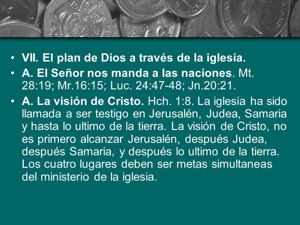 VII. El plan de Dios a través de la iglesia.