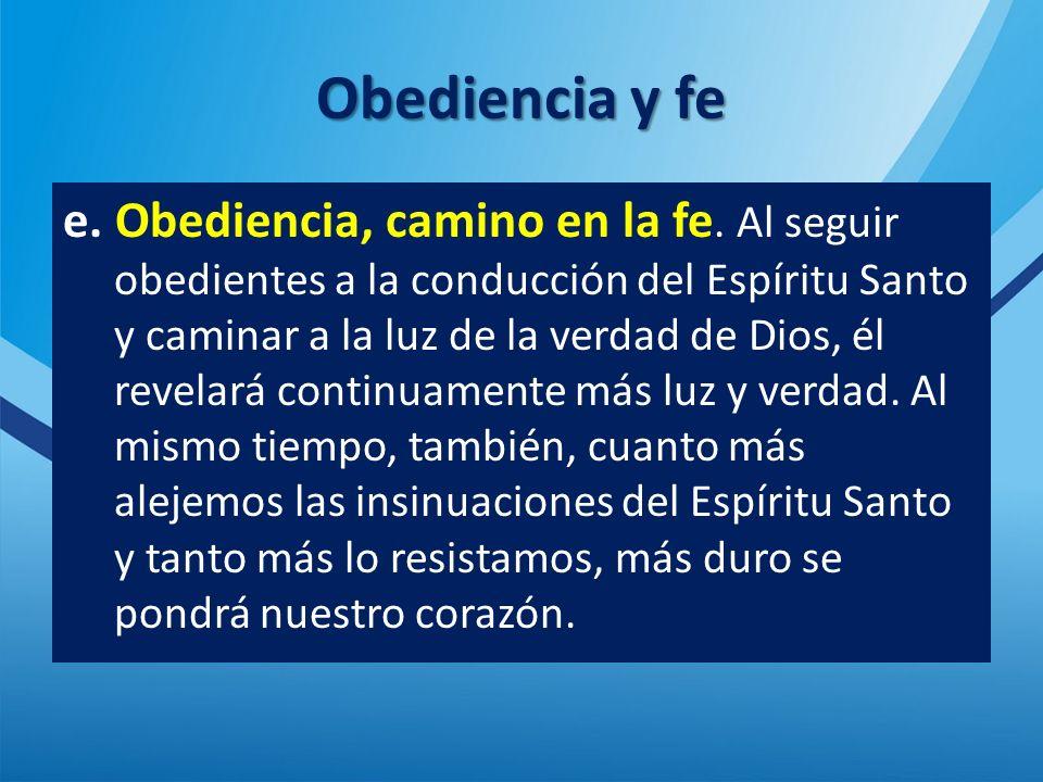 Obediencia y fe