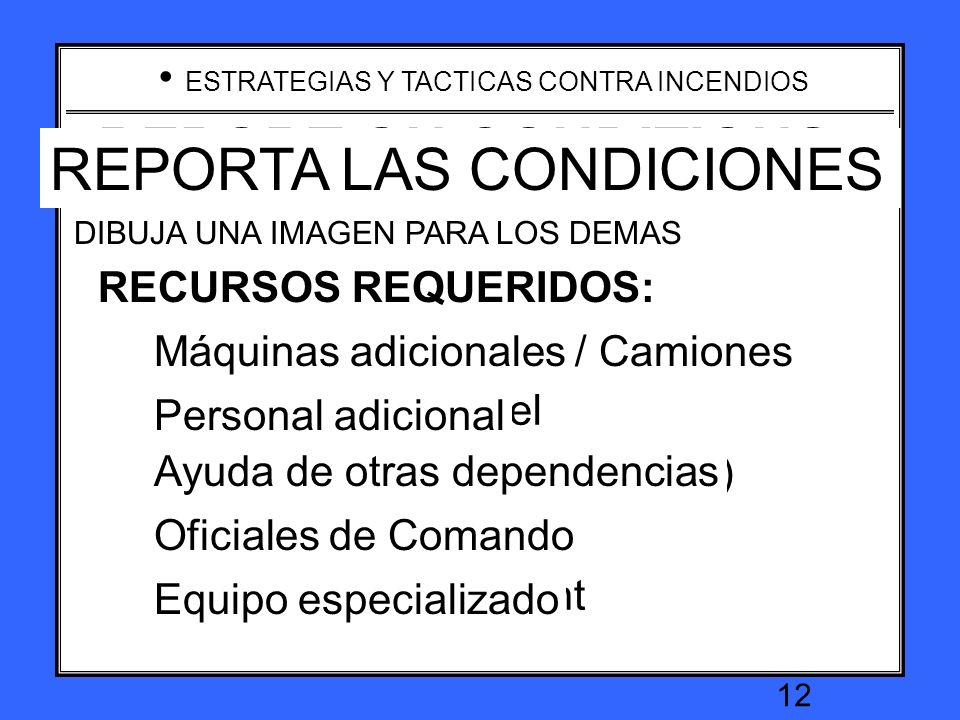 REPORTA LAS CONDICIONES