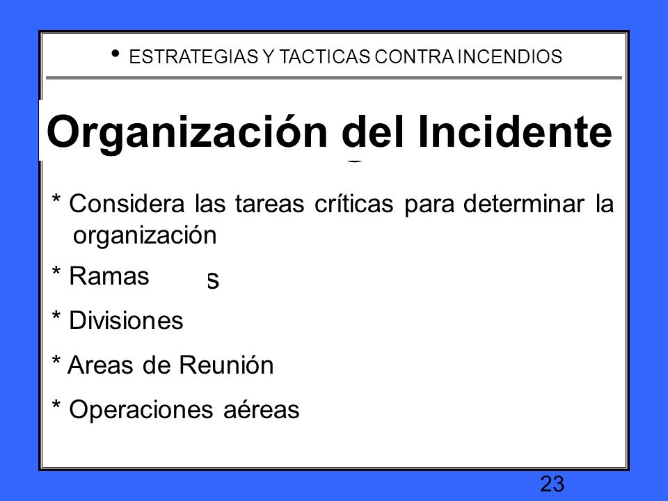 Incident Organization