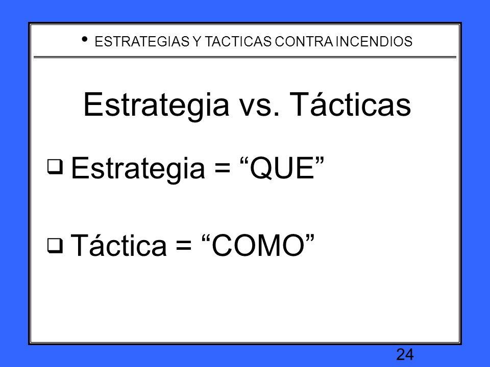 Estrategia vs. Tácticas