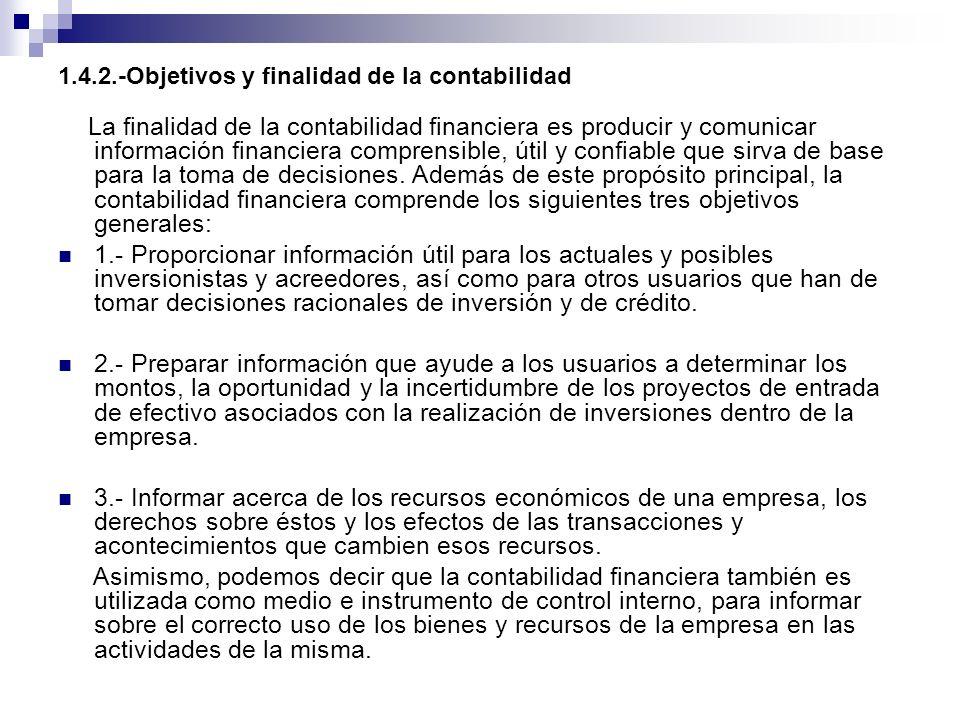 1.4.2.-Objetivos y finalidad de la contabilidad