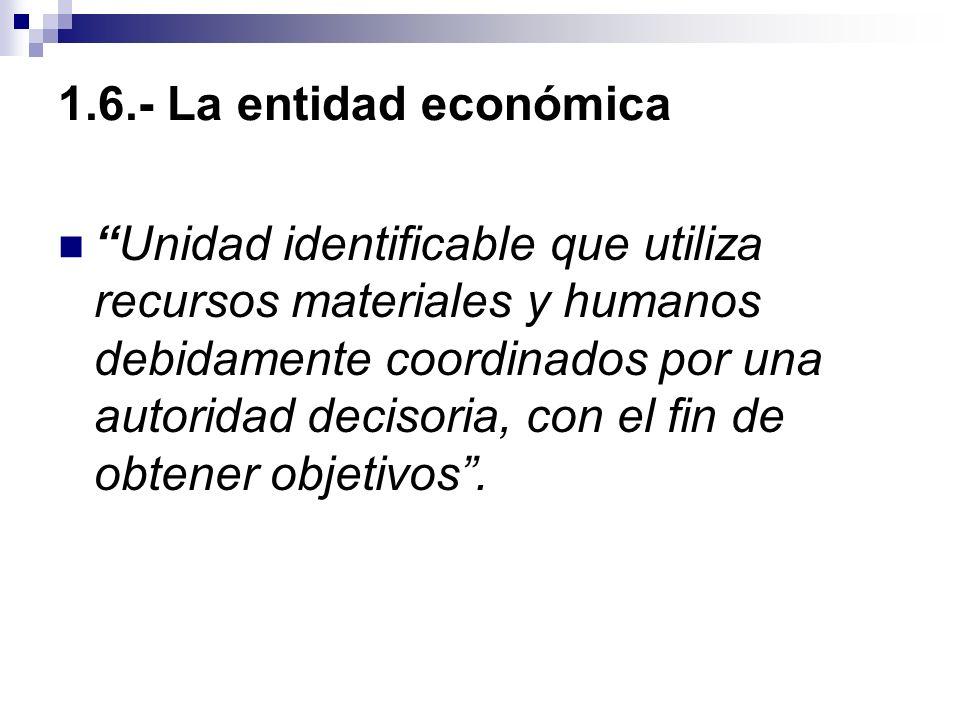 1.6.- La entidad económica