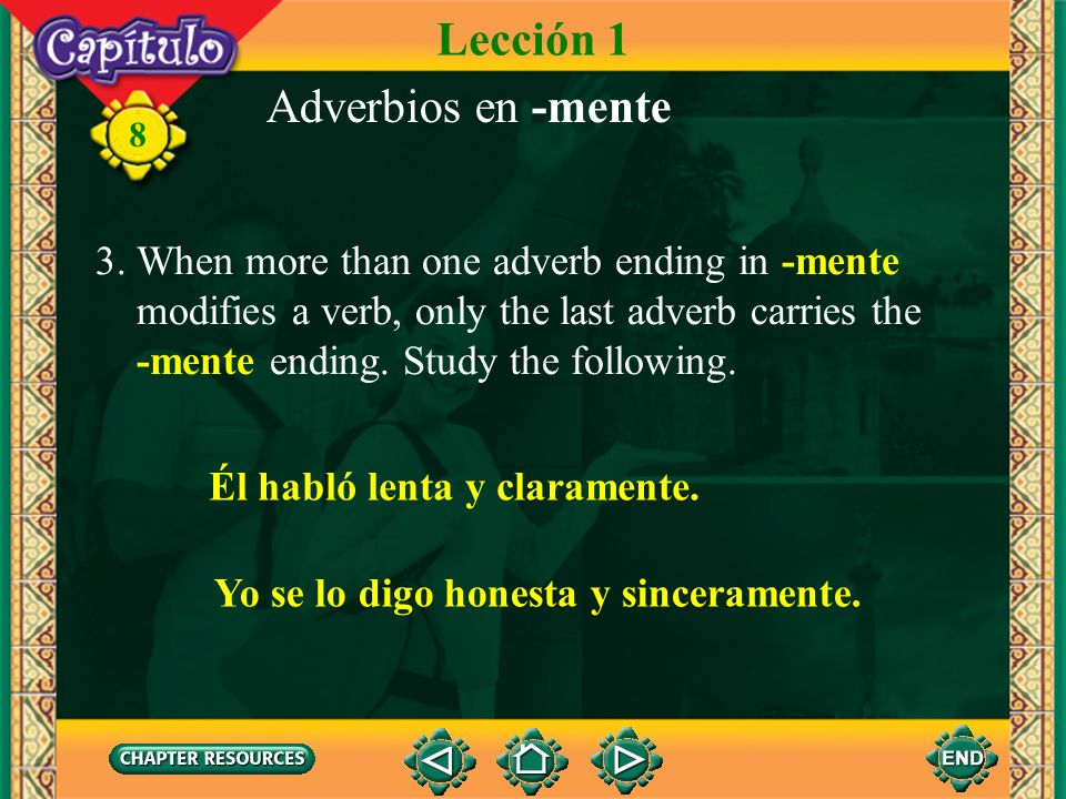 Lección 1 Adverbios en -mente