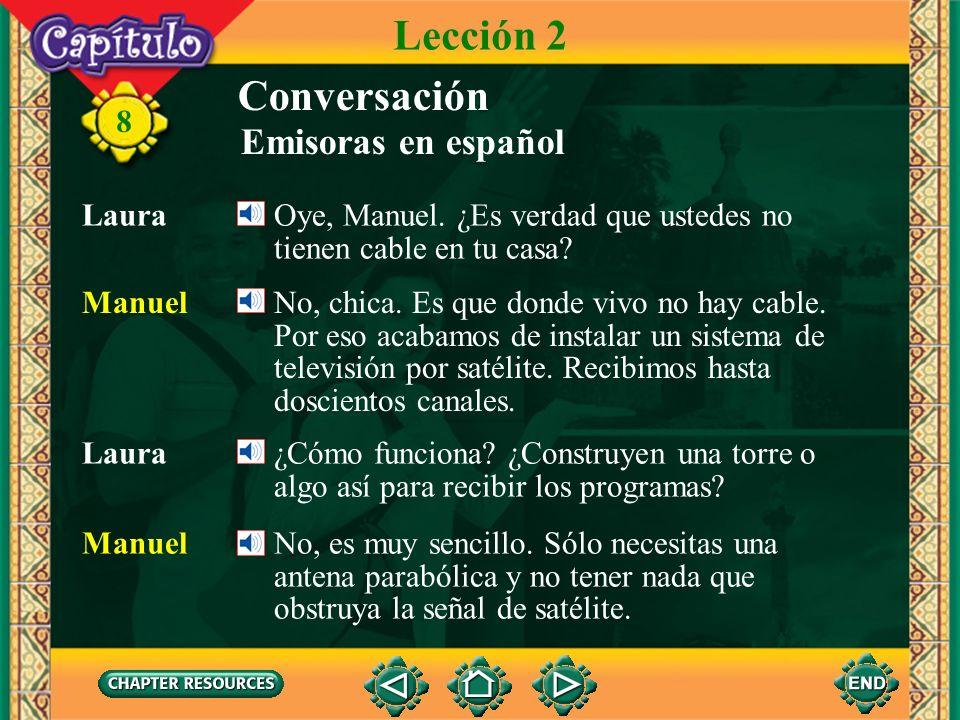 Lección 2 Conversación Emisoras en español