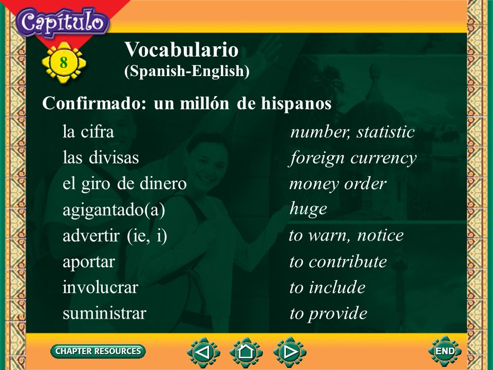 Vocabulario Confirmado: un millón de hispanos la cifra