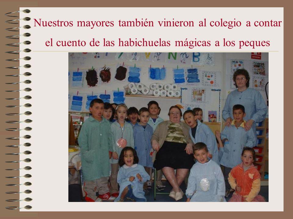 Nuestros mayores también vinieron al colegio a contar el cuento de las habichuelas mágicas a los peques