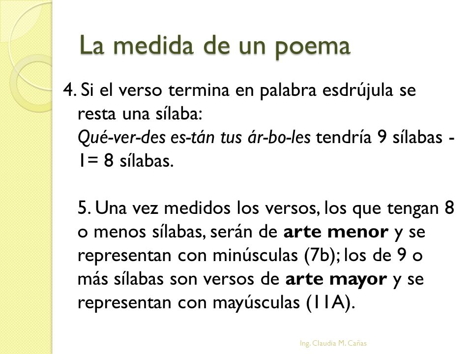 La medida de un poema