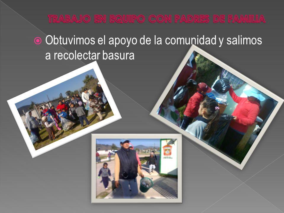 TRABAJO EN EQUIPO CON PADRES DE FAMILIA