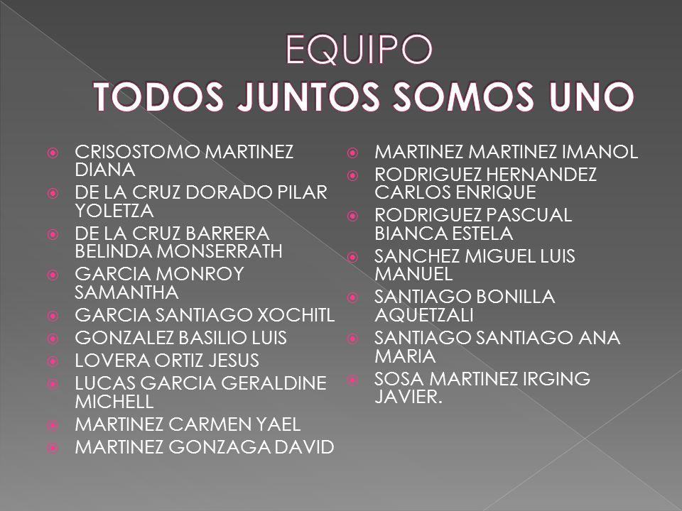 EQUIPO TODOS JUNTOS SOMOS UNO