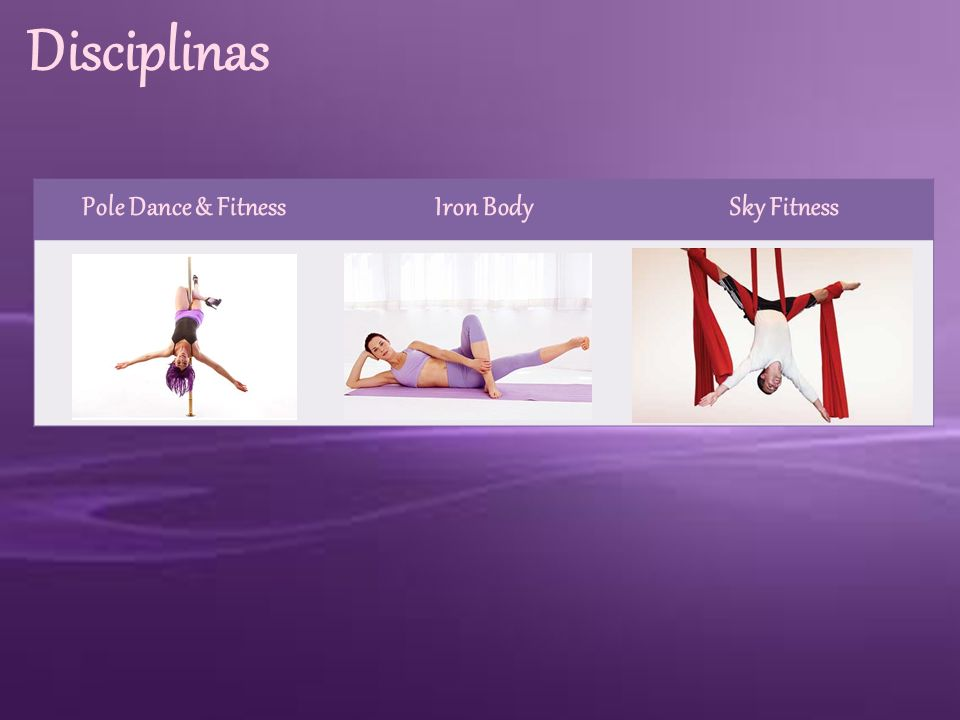 Disciplinas Pole Dance & Fitness Iron Body Sky Fitness