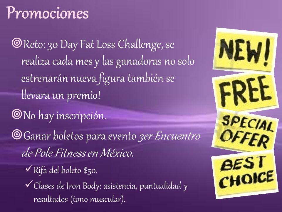 Promociones Reto: 30 Day Fat Loss Challenge, se realiza cada mes y las ganadoras no solo estrenarán nueva figura también se llevara un premio!
