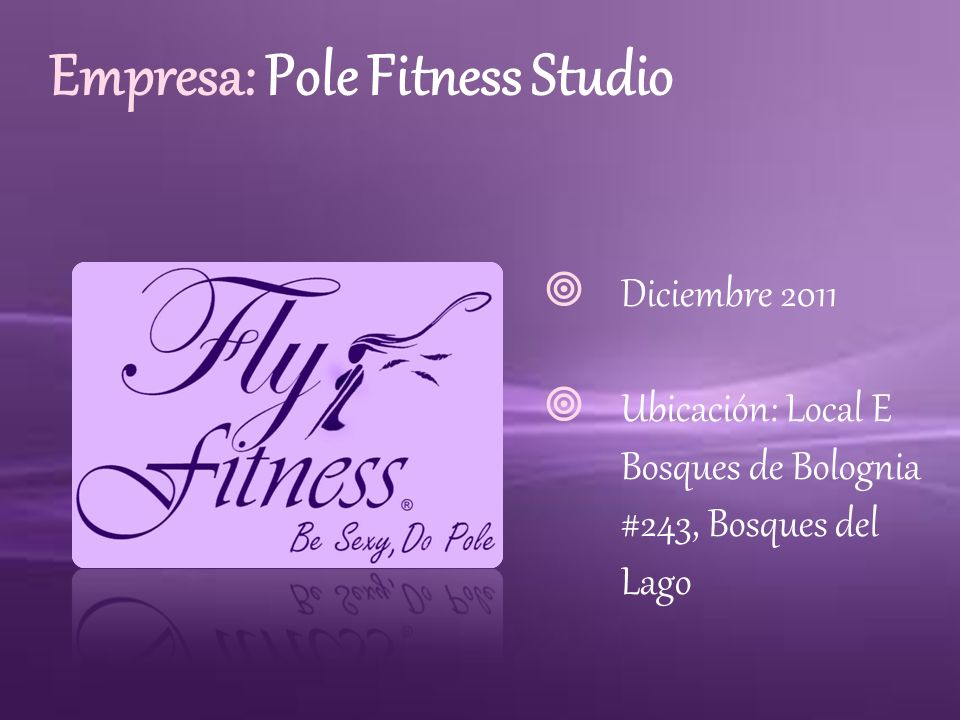 Empresa: Pole Fitness Studio
