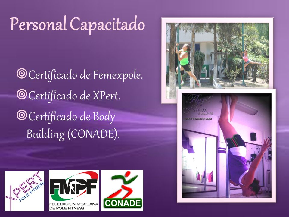 Personal Capacitado Certificado de Femexpole. Certificado de XPert.