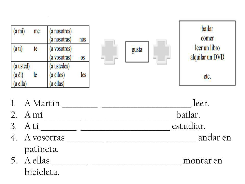 A Martín __________ _________________________ leer.